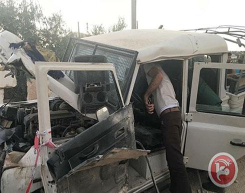 الشرطة: استشهاد ثلاثة رجال امن اثر حادث سير في جنين