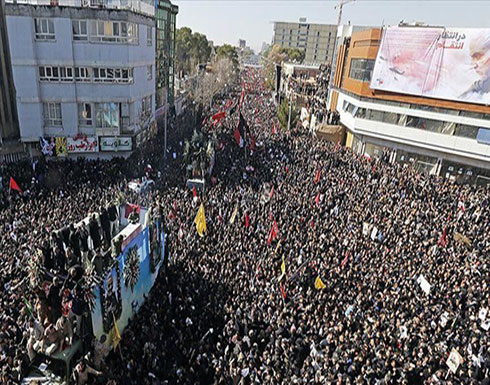 شاهد : مقتل نحو 50 ايراني خلال تشييع جنازة سليماني