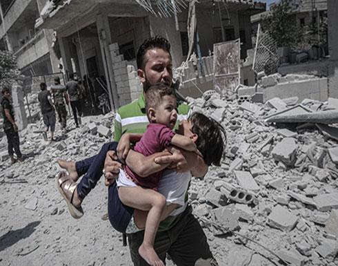 شاهد : آثار قصف طائرات النظام السوري على مدينة أريحا بريف إدلب