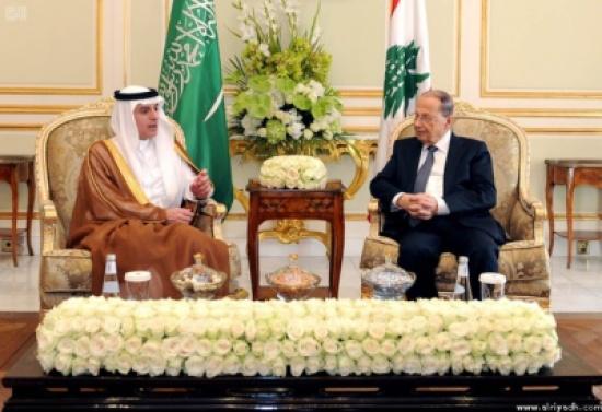 الرئيس اللبناني يستقبل وزير الخارجية السعودي