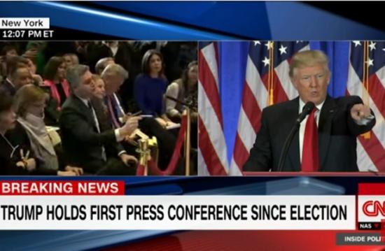 ملاسنة بين ترامب ومراسل سي أن أن على الهواء (شاهد)