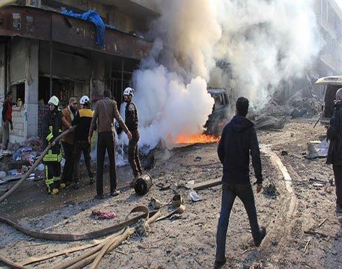 مقتل 7 مدنيين في غارة جوية على سوق بإدلب السورية