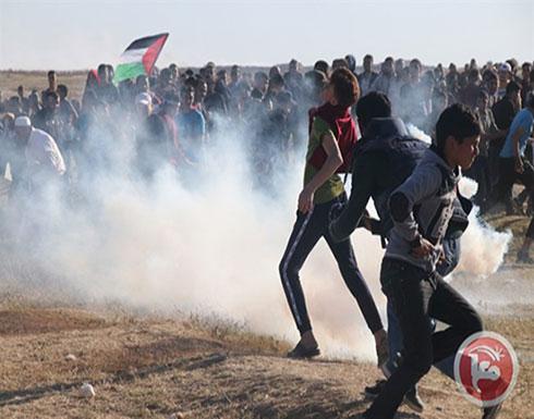 47 إصابة إثر قمع الاحتلال للمتظاهرين شرق القطاع