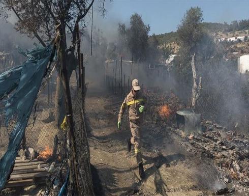 اليونان.. اندلاع حريق جديد في مخيم لطالبي اللجوء