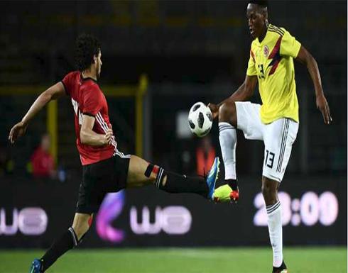 مصر تتعادل سلبياً مع كولومبيا