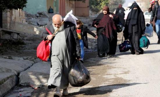 مقتل ثلاثة نازحين في الموصل إثر تفجير انتحاري مزدوج نفذه تنظيم الدولة