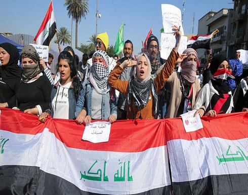 شاهد : متظاهرو بغداد يهتفون ضد علاوي.. وكربلاء تلاقيهم
