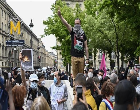 منع مظاهرة تندد باعتداءات إسرائيل بحق الفلسطينيين في باريس .. بالفيديو