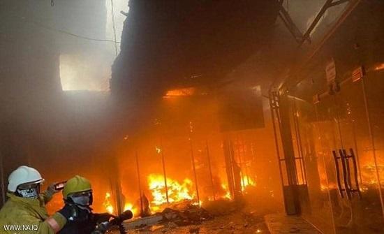 """فصل جديد بمسلسل """"كوارث العراق"""".. حريق في فندق بمدينة كربلاء"""