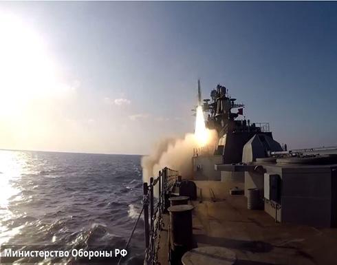 """شاهد : إطلاق صواريخ """"أوران"""" المجنحة من فرقاطة روسية"""