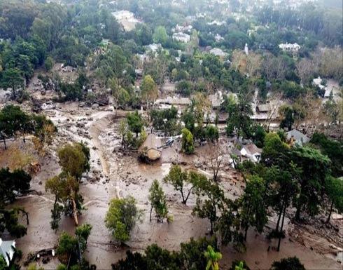 عشرات الضحايا جراء انهيارات أرضية في كاليفورنيا