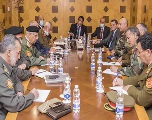 """المنفي ودبيبة يبحثان توحيد الجيش ودعم اللجنة العسكرية """"5+5"""""""