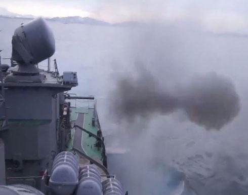 شاهد : رمايات مدفعية سفن أسطول المحيط الهادئ الروسي