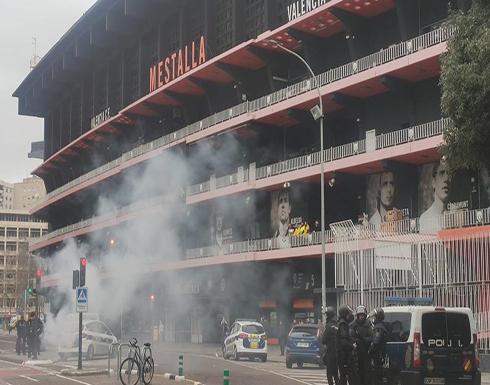 اشتباكات عنيفة بين جماهير برشلونة وفالنسيا