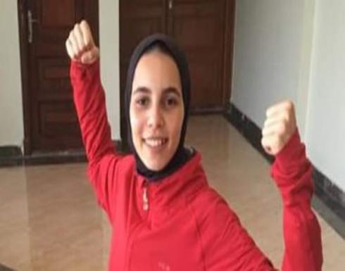 المصرية ميرنا هشام تحصد الميدالية الذهبية فى البطولة العربية للكاراتيه