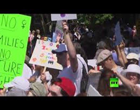 فيديو : احتجاجات شعبية في جميع أرجاء أمريكا ضد سياسة فصل أطفال المهاجرين