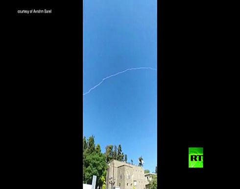 """فيديو : إسرائيل تعترض """"درون"""" سورية اقتربت من الجولان"""