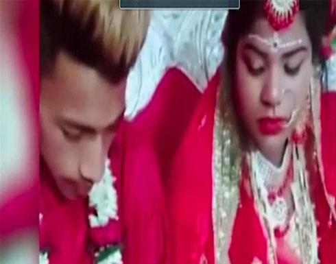 بالفيديو : جريمة لا تغتفر لعريس في ليلة زفافه.. شاهدوا ماذا فعل