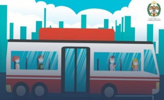 ادارة السير الاردنية تحذر خلال استخدام وسائط النقل العام : لا تلمس وجهك