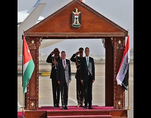 الملك يصل إلى بغداد ويلتقي الرئيس العراقي