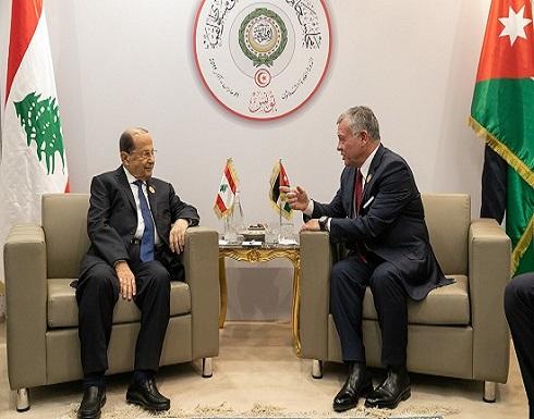 الرئيس اللبناني يبعث رسالة خطية إلى الملك