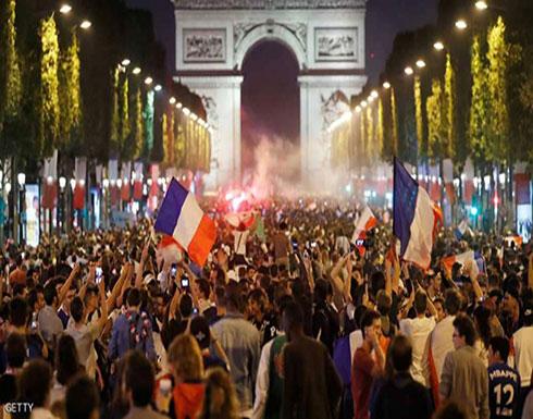 فيديو : احتفالات حاشدة في فرنسا بالتأهل لنهائي المونديال