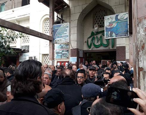 تشييع جنازة الفنانة ماجدة من مسجد مصطفى محمود (فيديو)
