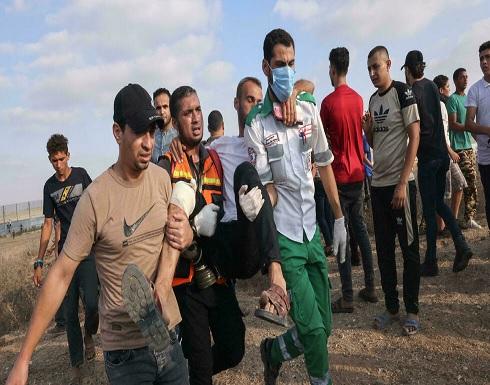 إصابة 20 متظاهرا فلسطينيا بنيران الجيش الإسرائيلي بمواجهات في خان يونس