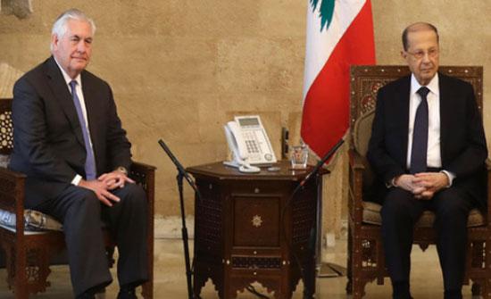 تيلرسون: لا فرق بين الجناحين العسكري والسياسي لحزب الله