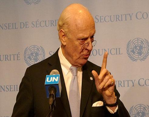 دي ميستورا: النظام حدد مهلة زمنية لبدء هجومه على إدلب