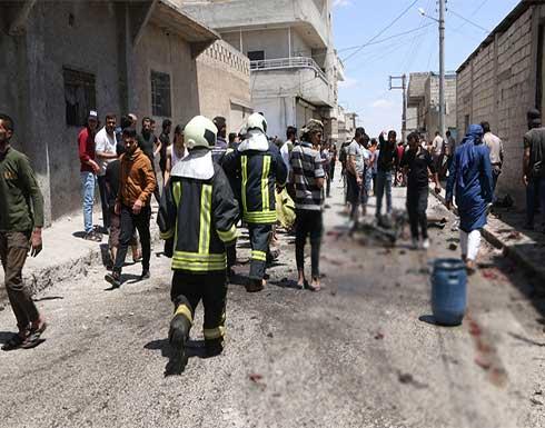 """""""عائلة كاملة"""".. دراجة مفخخة توقع ضحايا في جرابلس بريف حلب .. بالفيديو"""