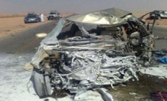 السعودية : وفاة أردني وزوجته واصابة ابنائهما اثر حادث سير