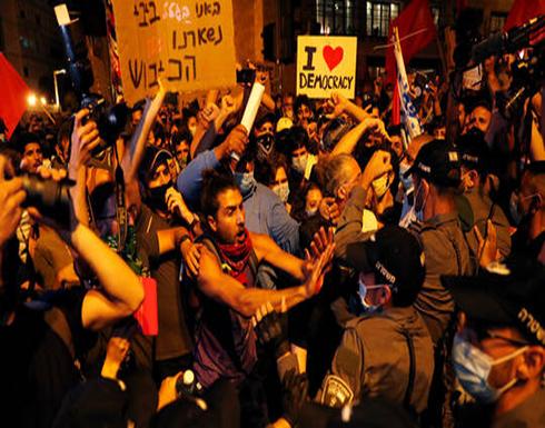 بالفيديو : الشرطة الإسرائيلية تعتقل 10 محتجين في القدس