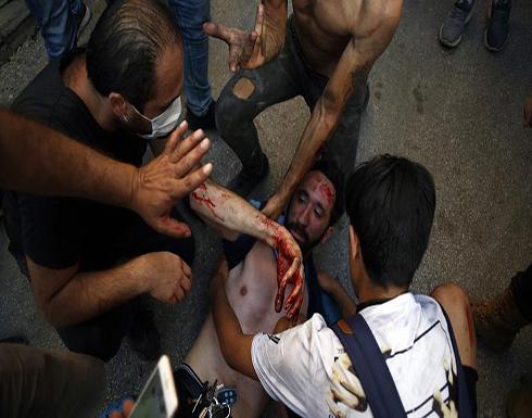 الصليب الأحمر اللبناني: نقل 63 جريحاً إلى المستشفيات في بيروت ومعالجة 175 آخرين