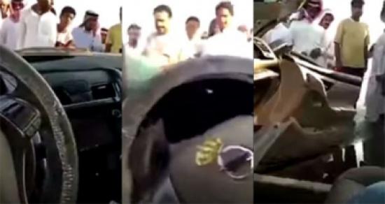 فيديو: شاب ينشغل بتصوير نفسه عبر سناب شات بعد تعرضه لحادث غير مبالٍ بوضعه