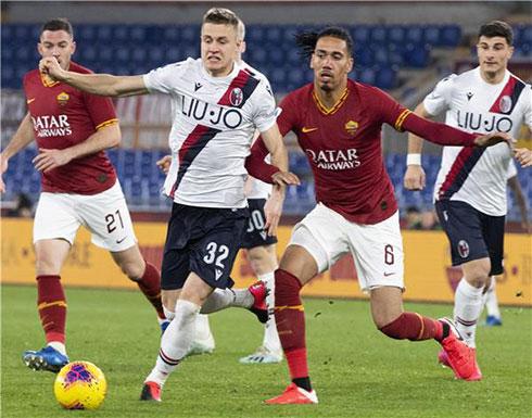 بالصور: روما يسقط أمام بولونيا في مباراة مثيرة