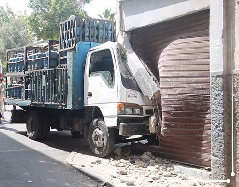 المغرب.. شاحنة محملة باسطوانات الغاز تقتحم بناية سكنية (فيديو)