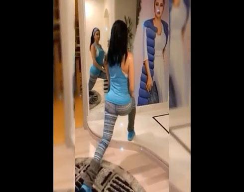 بالفيديو : جيني إسبر تمارس التمارين الرياضية وتقدّم النصائح للجمهور