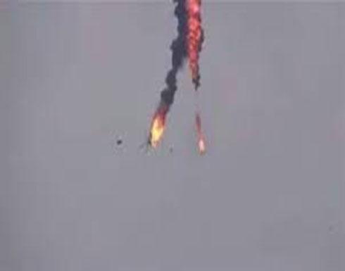 بالفيديو : مقتل طاقم مروحية للجيش السوري أسقطت في إدلب