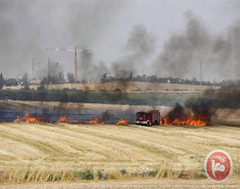 """17 حريقا في """"غلاف غزة"""""""