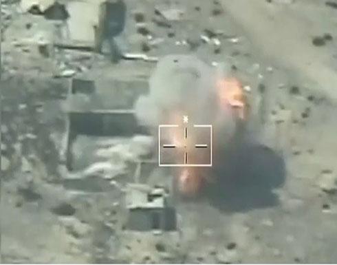 شاهد : الجيش المصري يبث فيديو قصف داعش في سيناء