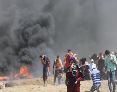 """4 شهداء و618 إصابة بقمع الاحتلال """"مليونية القدس"""" شرقي القطاع"""