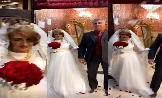 شاهد.. جدة ملح إنستقرام تحتفل بزفافها