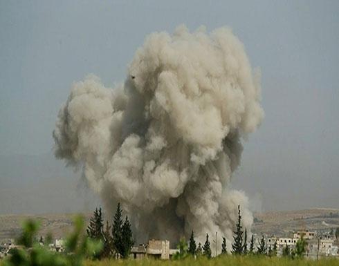 شاهد : غارات متواصلة على مناطق عدة في إدلب