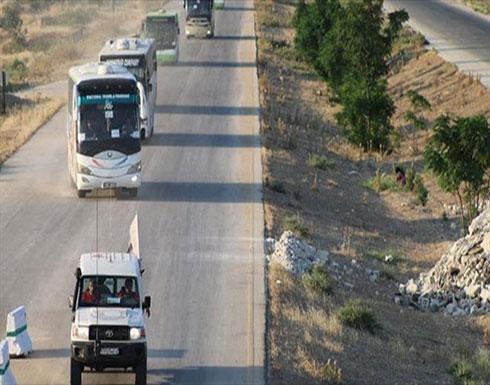سوريا.. ثاني قافلة من مهجّري درعا تصل إدلب