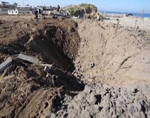 بالفيديو : غارات إسرائيلية على قطاع غزة تخلف أضرارا كبيرة