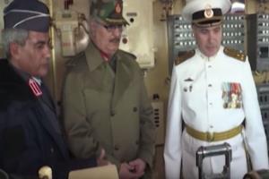 حفتر يزور حاملة الطائرات الروسية كوزنيتسوف في البحر المتوسط