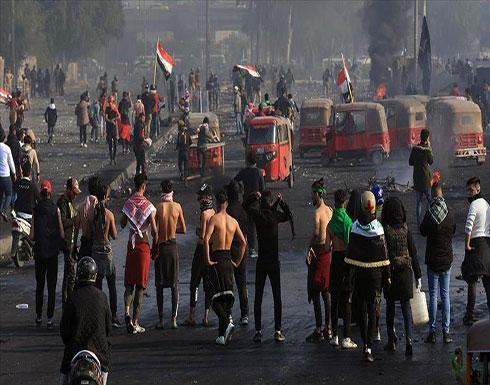 شاهد : ضرب عنيف للمتظاهرين في ساحة الخلاني من قبل قوات الشغب العراقية