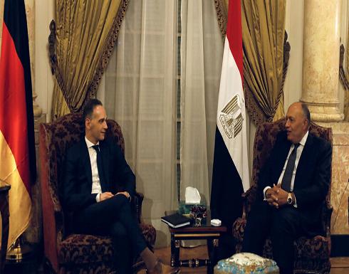 وزيرا خارجية مصر وألمانيا يبحثان الملف الليبي وتطورات القضية الفلسطينية