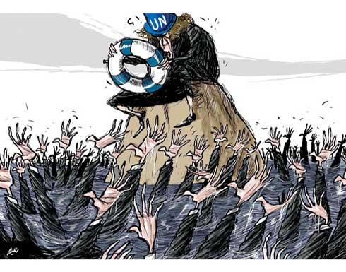 الامم المتحدة واللاجئين